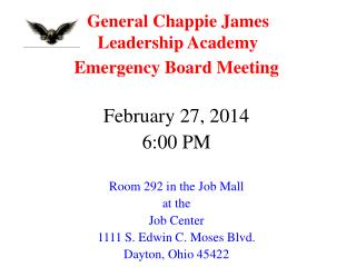 General Chappie James  Leadership Academy