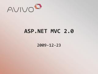 ASP.NET MVC 2.0