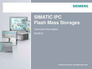 SIMATIC IPC Flash Mass Storages