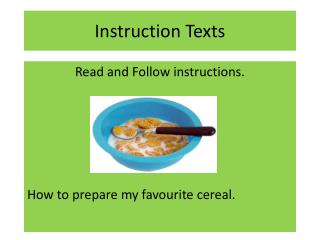 Instruction Texts