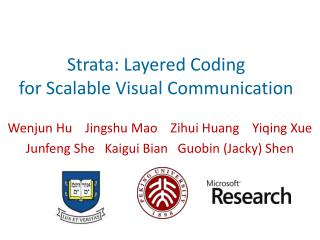 Strata: Layered Coding  for Scalable Visual Communication