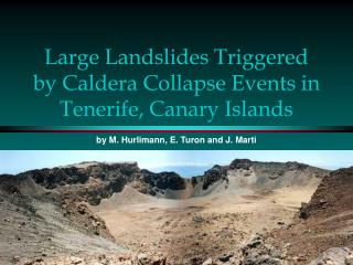 Large Landslides Triggered by Caldera Collapse Events in Tenerife, Canary Islands