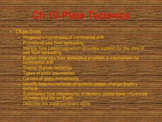 Ch 10-Plate Tectonics