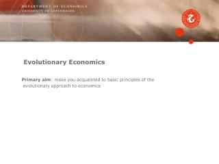 Evolutionary Economics