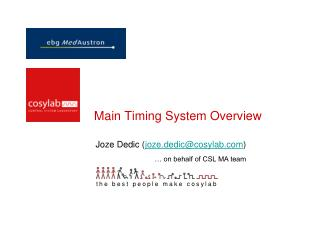 Main Timing System Overview