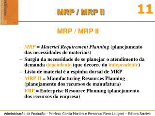 MRP / MRP II