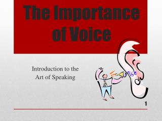 The Importance of Voice