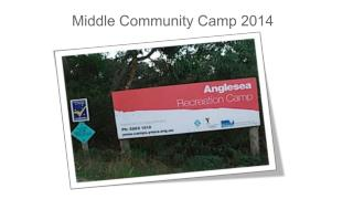 Middle Community Camp 2014