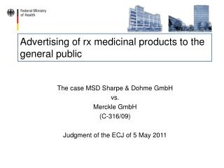 Advertising of rx medicinal products to the general public