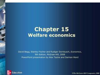 Chapter 15 Welfare economics