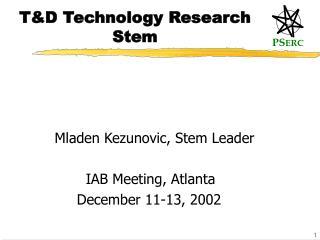 TD Technology Research Stem