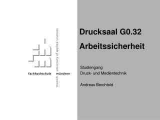 Studiengang Druck- und Medientechnik Andreas Berchtold