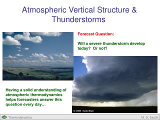 Atmospheric Vertical Structure & Thunderstorms