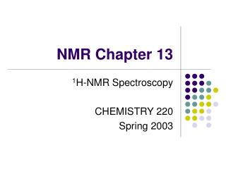 NMR Chapter 13