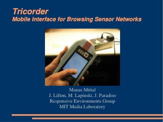 Tricorder Mobile Interface for Browsing Sensor Networks