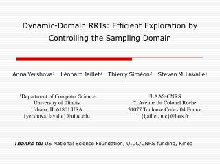 Dynamic-Domain RRTs: Efficient Exploration by Controlling the Sampling Domain