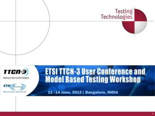 11th TTCN-3 User Conference