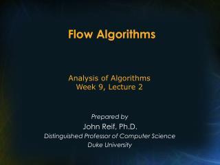 Flow Algorithms
