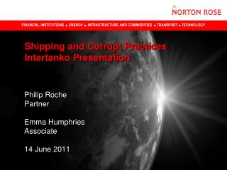Shipping and Corrupt Practices Intertanko Presentation