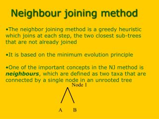 Neighbour joining method