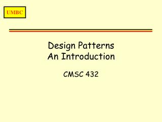 Design Patterns An Introduction