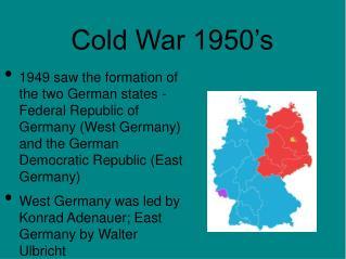 Cold War 1950's