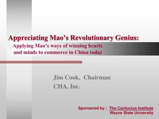 Jim Cook,  Chairman CHA, Inc.