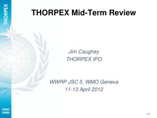 THORPEX Mid-Term Review