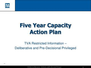 Five Year Capacity  Action Plan