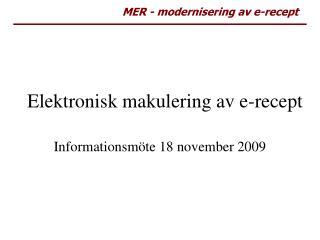 Elektronisk makulering av e-recept