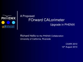 A Proposed FOrward CALorimeter Upgrade in PHENIX
