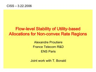 Flow-level Stability of Utility-based  Allocations for Non-convex Rate Regions