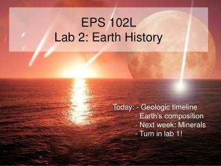 EPS 102L Lab 2: Earth History