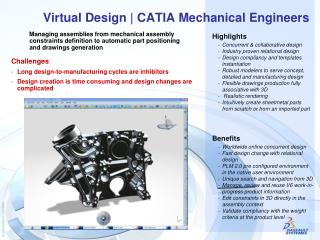 Virtual Design | CATIA Mechanical Engineers