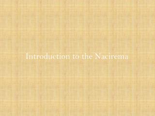 Introduction to the Nacirema