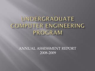 Undergraduate Computer Engineering Program