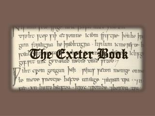The Exeter Book