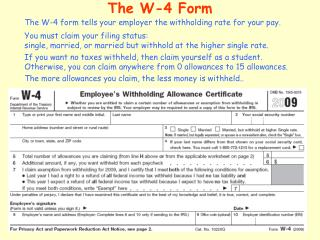 The W-4 Form