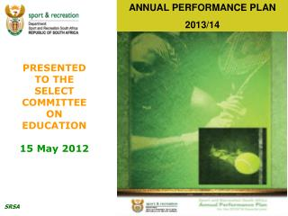 ANNUAL PERFORMANCE PLAN 2013/14