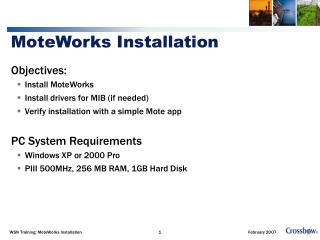 MoteWorks Installation