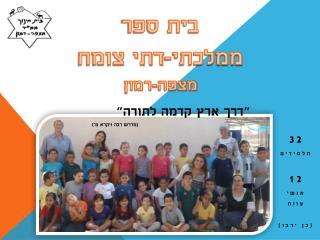 בית ספר  ממלכתי-דתי  צומח מצפה-רמון