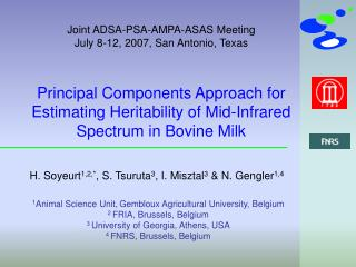 Principal Components Approach for Estimating Heritability of Mid-Infrared Spectrum in Bovine Milk