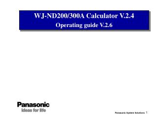 WJ-ND200/300A Calculator V.2.4 Operating guide V.2.6