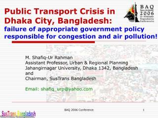 SusTrans Bangladesh