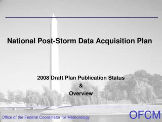 National Post-Storm Data Acquisition Plan