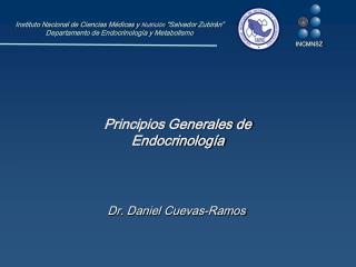 Principios Generales de  Endocrinolog�a