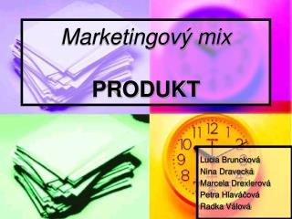 Marketingov  mix  PRODUKT