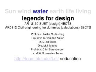 Prof.dr.ir. Taeke M. de Jong Prof.dr.ir. C. van den Akker Ir. D. de Bruin Drs. M.J. Moens