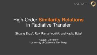 High-Order  Similarity Relations  in Radiative Transfer