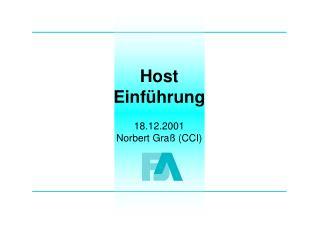 Host Einführung